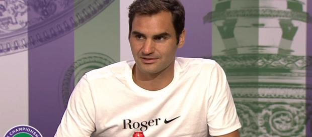 Roger Federer during a press conference at Wimbledon/ Photo: screenshot via Wimbledon channel on YouTube
