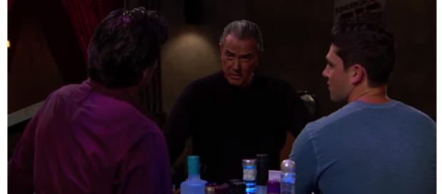 The Newman men celebrate Thanksgiving. (Image via The Young and the Restless channel/Youtube).