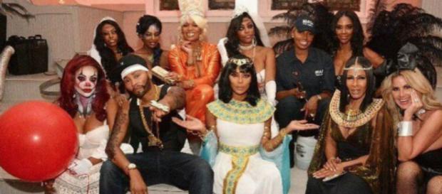 The 'RHOA' cast enjoys a Halloween party. [Image via 'RHOA' /Instagram]