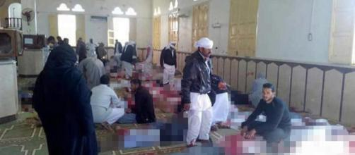 Egypt mosque explosion kills 235 men, women and kids dead after ( Image source-screenshot Youtube.com)