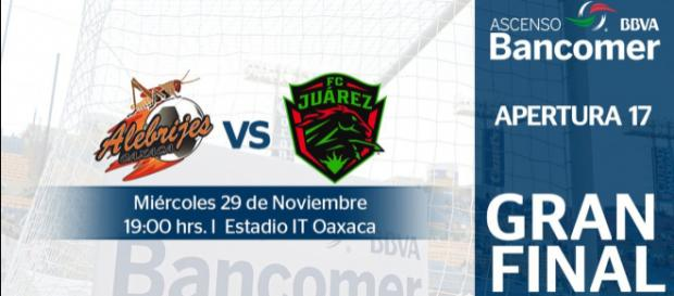 Final de Ascenso MX: Alebrijes vs FC Juárez.