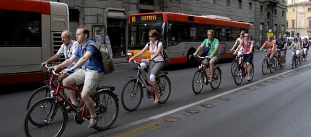 In bicicletta a Roma, la proposta del Comune
