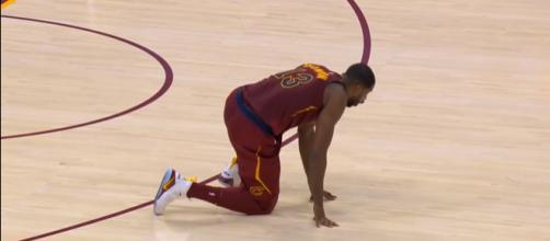 Cavaliers center Tristan Thompson is living the life as he recovers from a calf injury -- (Image Credit: MLG Highlights/YouTube screencap)