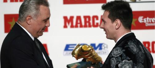 Lionel Messi et le soulier d'or !