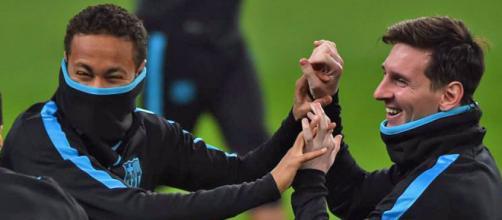 Messi y Neymar se entrenan con el grupo | Marca.com - marca.com