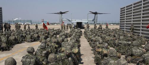 South Korean Marines on exercise. - [image courtesy United States Marine Corps Wikimedia Commons]