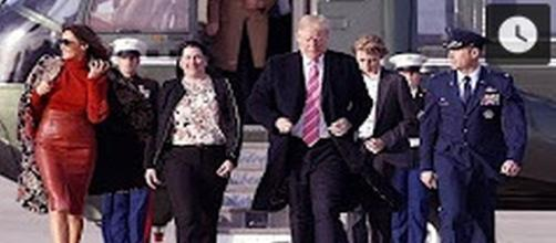 Trump family flies to Mar-a_Lago [Image Source: Celebrities TV/YouTube]