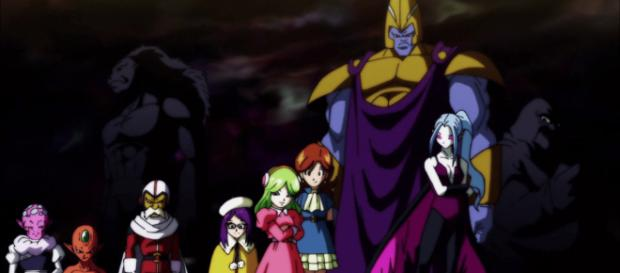 The warriors of Universe 2 in the Tournament