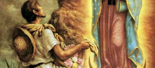La aplicación de la Virgen de Guadalupe al indio Juan Diego