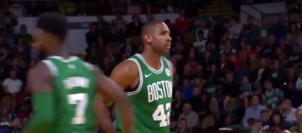 Al Horford is pleased as the Celtics stepped up on offense in their win over the Magic -- FreeDawkins via YouTube
