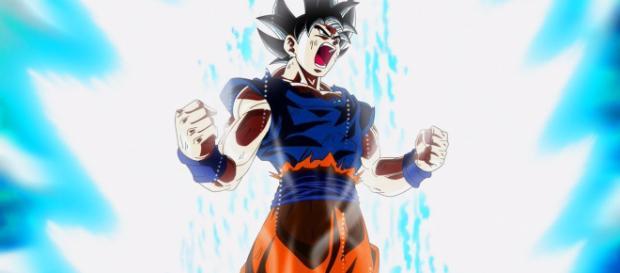Goku con su energía restaurada