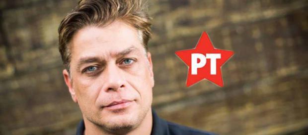O ator é filiado ao Partido dos Trabalhadores
