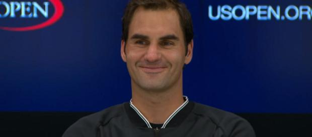 Roger Federer during a press conference at 2017 US Open/ Photo: screenshot via US Open Tennis Championships channel on YouTube