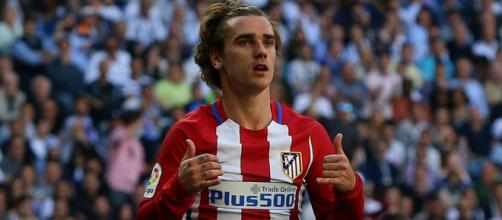 Atletico Madrid striker Antoine Griezmann celebrates his goal in the past.(Image Credit: cesarfergar8/Flickr)