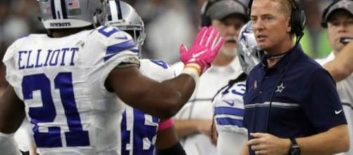 Could Zeke's suspension cost Jason Garrett his job? [Image via Mark Holmes/YouTube]