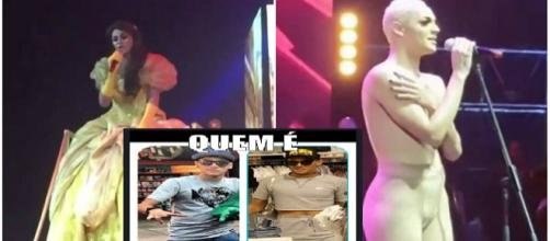 Drag queen se apresentou no Rio de Janeiro e ficou nua