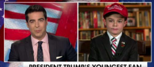Fox News and Trump's youngest fan, via Twitter