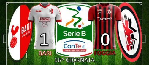Il Bari vince 1-0 il Derby d'Apulia contro il Foggia