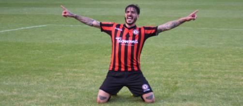 Il centrocampista del Foggia, Antonio Vacca