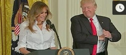 Melania and Donald Trump [Media Source: Michael Mcintee/YouTube]