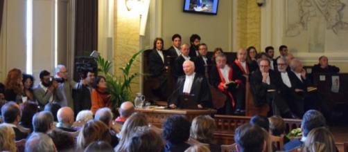 Piero Angela durante la cerimonia