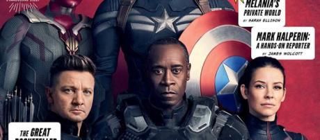 una delle cover di Vanity Fair per Avengers Infinity Wars