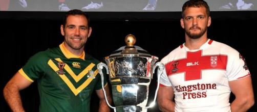 Australia captain Cameron Smith and England captain Sean O'Loughlin will hope to lift this trophy on Saturday. Image Source - thesun.co.uk