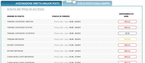 Benevento-Milan: Biglietti del settore ospiti esauriti in meno di un'ora-www.listicket.com