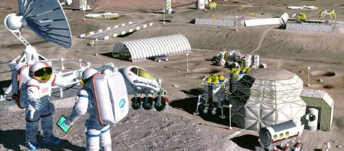 Future lunar colony [image courtesy NASA wikimedia commons]
