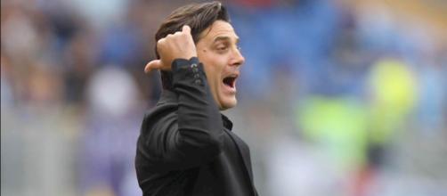 L'allenatore del Milan, Vincenzo Montella