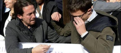 Pablo Iglesias durante una manifestación