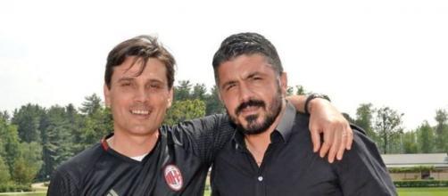 Passaggio di consegne tra Vincenzo Montella e Gennaro Gattuso, già alla guida della squadra primavera