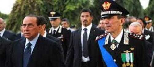 Silvio Berlusconi con il generale Gallitelli