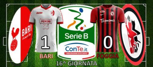 Terminato 1-0 il derby d'Apulia Bari-Foggia.