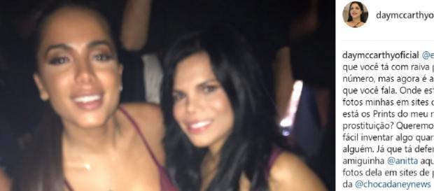 Day McCarthy compra briga com Anitta e agora fala em prostituição