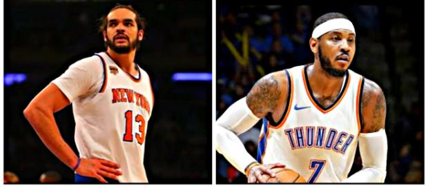 Joakim Noah and Carmelo Anthony were teammates for one season in New York. – [image credit: Ximo Pierto, Josh Smoove/ Youtube]