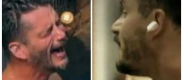 Marcos Harter chora após discussão com Monick
