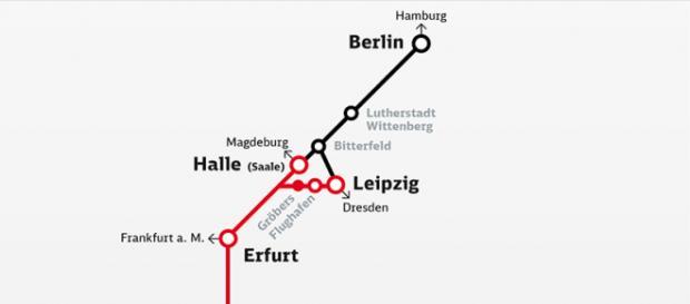 VDE.8 Ausbaustrecken (blau/schwarz) und Neubaustrecken (rot