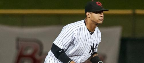 Could the Yankees deal away top prospect Gleyber Torres? [Image via Baseball Essential/YouTube]
