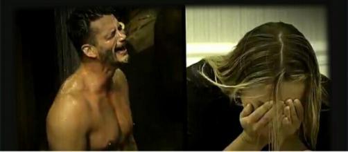 Marcos Harter e Monick Camargo em 'A Fazenda'.