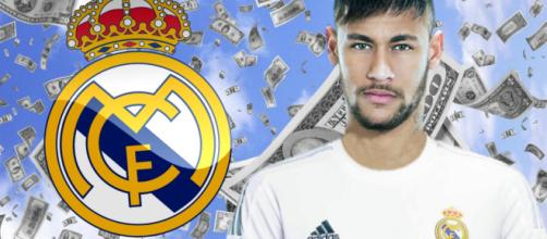 Neymar con la camiseta del Real Madrid