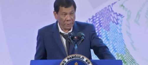 Philippine President Rodrigo Duterte at a briefing. - [ Philippines Daily News / YouTube screencap]