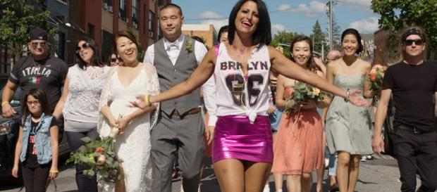 Bridal party on the set of Brand New Start. Photo Source: Gina Cutillo