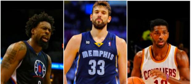 DeAndre Jordan, Marc Gasol and Tristan Thompson are at the center of trade rumors – [image credit: Josh Smoove, Ximo Pierto/ Youtube]