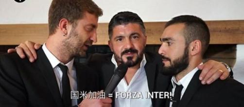 Gattuso beffato dagli inviati de Le Iene dice forza Inter in cinese
