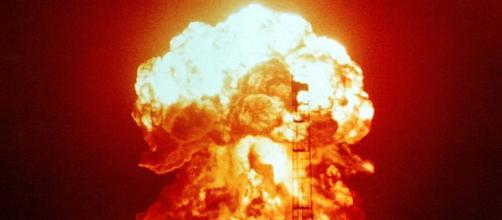 Nuclear explosion. - [image courtesy Defense Department Wikimedia commons]