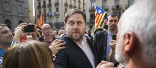 Oriol Junqueras en una manifestación para la independencia