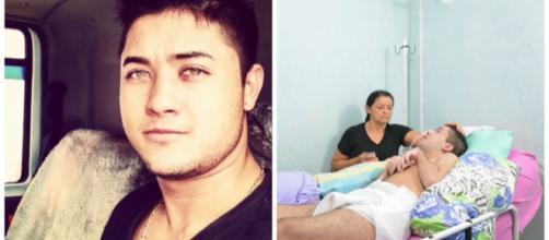 Rogerinho, de Alterosa - MG, ficou em estado vegetativo após ser picado por abelha (Foto: Página Juntos Com Rogerinho)