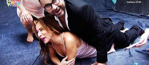 Una de las escenas más ridículas de Jorge Javier y María Patiño.