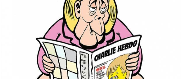 """Charlie Hebdo"""" déshabille Merkel pour sa première en Allemagne ... - lepoint.fr"""